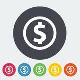 Het muntstuk van de dollar vector illustratie
