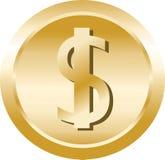 Het muntstuk van de dollar stock foto