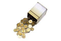 Het muntstuk van de doos Royalty-vrije Stock Afbeeldingen