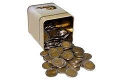 Het muntstuk van de doos Royalty-vrije Stock Foto's
