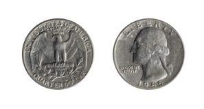 Het muntstuk van de kwartdollar stock fotografie