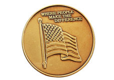 Het Muntstuk van de Vlag van de V.S. Royalty-vrije Stock Fotografie