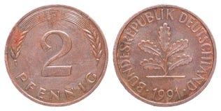 Het muntstuk van Duitsland Stock Foto