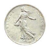 Het muntstuk van Francaise stock foto