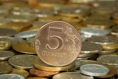 Het muntstuk van het geld stock afbeelding