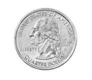 Het muntstuk van het kwart Stock Afbeelding