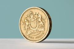 Het muntstuk van het pond Stock Fotografie