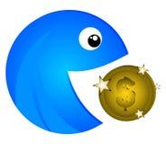 Het muntstuk van het tussenvoegsel stock illustratie