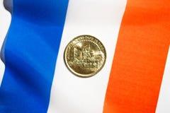 Het muntstuk van het kathedraalnotre-dame de paris royalty-vrije stock foto
