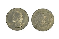 Het muntstuk van kwartverenigde staten royalty-vrije stock foto