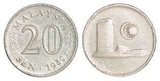Het muntstuk van Maleisië Stock Foto's