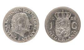 Het muntstuk van Nederland, de nominale waarde van 1 gulden royalty-vrije stock foto