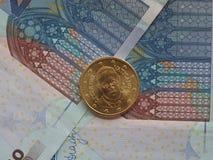 Het muntstuk van pausfrancis I Stock Fotografie