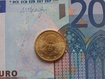 Het muntstuk van pausfrancis I Stock Foto's