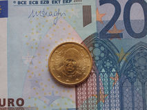 Het muntstuk van pausfrancis I Stock Afbeelding