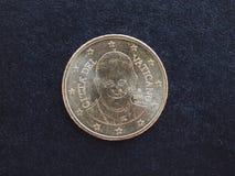 Het muntstuk van pausfrancis I Stock Foto