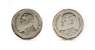 Het muntstuk van Thailand, Baht vijf Royalty-vrije Stock Afbeelding