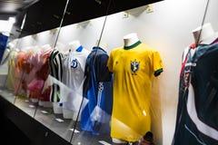 Het museum is beroemd voor spelers van voetbalclubs de Intermilaan en T-shirts van Milaan bij het stadion van San Siro royalty-vrije stock foto