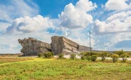 Het museum complex van Adzhimushkay-steengroeven stock afbeeldingen
