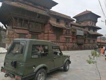 Het Museum en de Jeep van Katmandu royalty-vrije stock foto