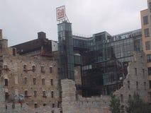 Het Museum en de Ruïnes van de molenstad in Minneapolis Royalty-vrije Stock Afbeelding