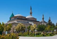Het Museum en het Mausoleum van Mevlana in Konya Turkije Royalty-vrije Stock Afbeeldingen