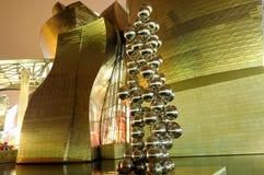 Het museum Guggenheim in Bilbao Stock Fotografie