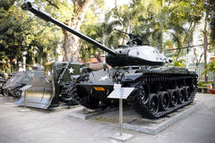 Het Museum Ho Chi Minh City Vietnam van oorlogsresten Stock Foto's