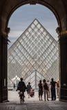 Het museum Parijs Frankrijk van het Louvre Stock Fotografie