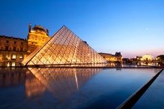 Het Museum Parijs van het Louvre Stock Afbeeldingen