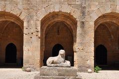 Het museum van Archaelogical, oude stad Rhodos, Griekenland Stock Foto