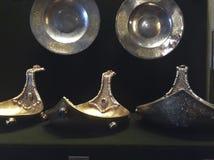 Het museum van de Arsenaalkamer in Moskou, Rusland Oude Russische dishwear Royalty-vrije Stock Fotografie
