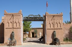 Het Museum van de bioskoop in Ouarzazate, Marokko Stock Afbeelding