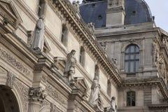 Het Museum van de Kunst van het Louvre in Parijs Stock Afbeelding