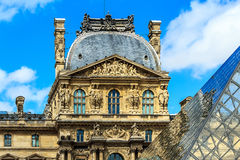 Het museum van de Kunst van het Louvre, Parijs Stock Foto
