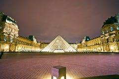 Het museum van de Kunst van het Louvre, Parijs, Frankrijk. Stock Foto