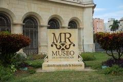 Het Museum van de Revolutie in Havana Cuba stock foto