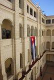 Het Museum van de Revolutie met Cubaanse Vlag Stock Afbeelding