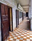 Het Museum van de Volkerenmoord van Sleng van Tuol Stock Afbeelding