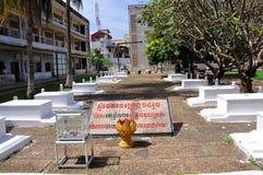 Het Museum van de Volkerenmoord van Sleng van Tuol, Phnom Penh, Kambodja Royalty-vrije Stock Foto