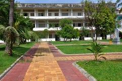 Het Museum van de Volkerenmoord van Sleng van Tuol, Phnom Penh, Kambodja Royalty-vrije Stock Afbeeldingen