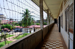 Het Museum van de Volkerenmoord van Sleng van Tuol, Phnom Penh, Kambodja Stock Fotografie