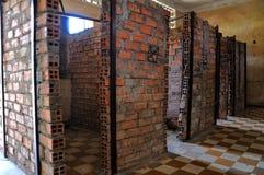 Het Museum van de Volkerenmoord van Sleng van Tuol, Phnom Penh, Kambodja Stock Afbeeldingen