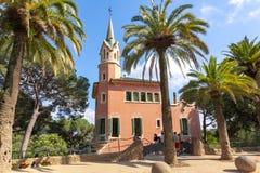 Het Museum van het Gaudihuis in Guell-park, Barcelona, Spanje stock fotografie