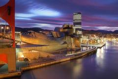 Het Museum van Guggenheim in Bilbao, Spanje Stock Fotografie