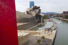 Het Museum van Guggenheim, Bilbao, Spanje royalty-vrije stock foto's