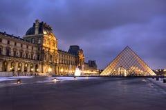 Het Museum van het Louvre in Parijs stock foto