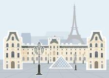 Het Museum van het Louvre, Parijs Stock Afbeeldingen