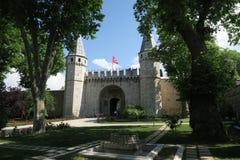 Het Museum van het Topkapipaleis in Istanboel - de Poort van Begroeting is de Belangrijkste Ingang royalty-vrije stock afbeeldingen