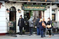 Het Museum van Holmes van Sherlock stock afbeeldingen